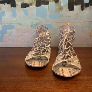 Sam Edelman Snake Mesh Strappy Leather Sandal 9.5M